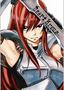 In Fairy Tail as Erza Scarlet
